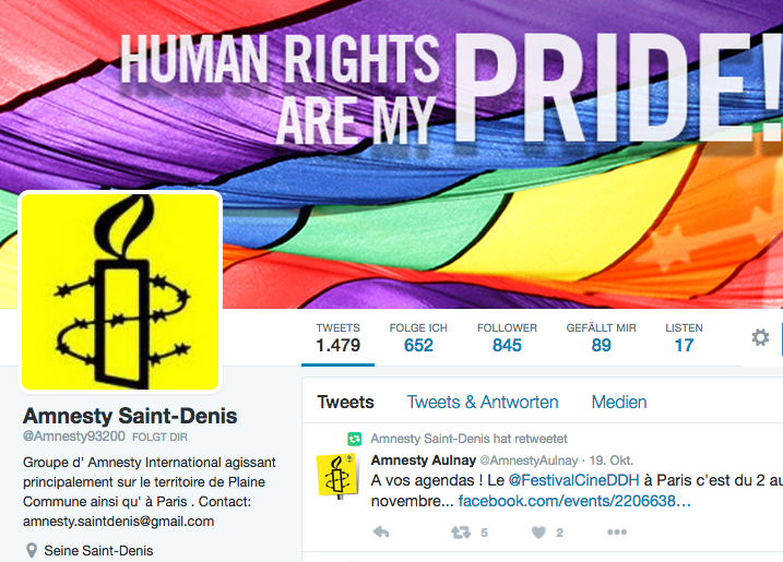 Amnesty Saint-Denis on Twitter